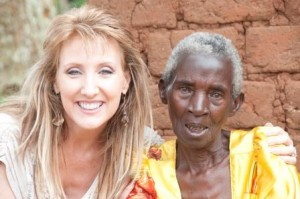 Laura-Lynn with Catherine, a great grandmother, in Uganda